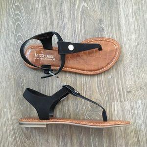 NEW! Michael Shannon Black Slingback Sandals